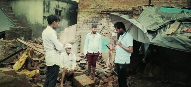 धानी ब्लाक के अंतर्गत ग्राम सभा कानापार में मकान ढहने से चार घायल